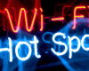 Wi-Fi hot spot neon sign