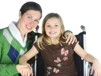 Special needs mom and daughter