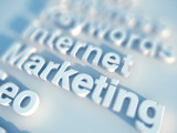 seo keywords marketing, internet, seo rendered in 3D type